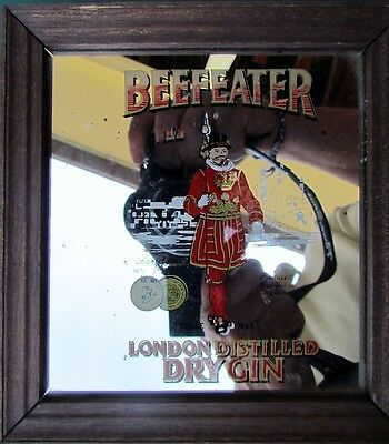 Beefeater London Dry Gin Mirror Frame 6x6-1/4 inches