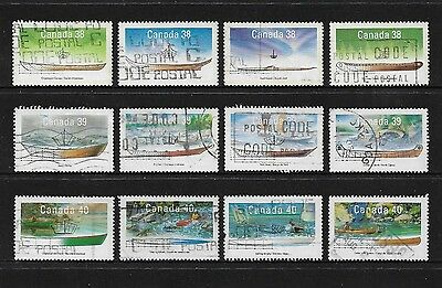 CANADA - 1989-1991 Small Craft of Canada, series 1-3, sets, used