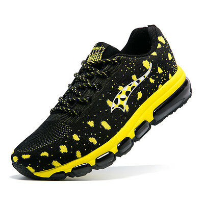 Running Shoes Men's Air Athletic Black Knitting Sneakers Yellow US 6.5-12 ONEMIX