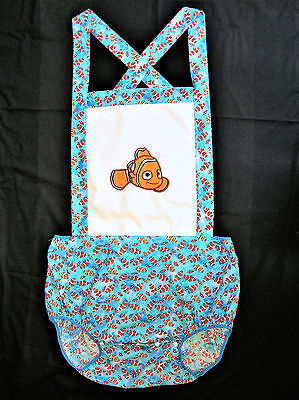 """Mommy Red """"Finding Fishes"""" Romper adult size baby design 36 - 50"""" Waist"""