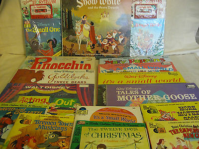 *sale* Classic Disney Records, Tapes & Book/record Combos - Some Still Sealed