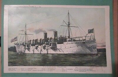 "9079 ~ ""Philadelphia"" Us Cruiser ~ Philadelphia Inquirer Supplement May 1, 1898"