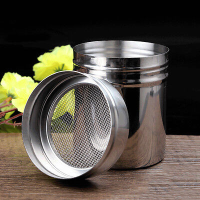 Stainless Steel Chocolate Shaker Icing Sugar Powder Cocoa Flour Coffee Sifter