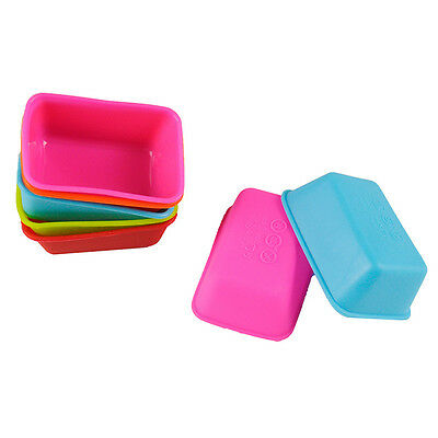 2X Silicone Toast Cake Bread Mold Rectangle Shape Soap Mould Kitchen Baking Tool