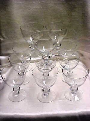 Vintage 1950's Imperial Glass Continental Pattern Crystal Water Goblet lot of 12