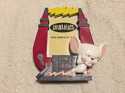 "Vintage 1995 Animaniacs Pinky and the Brain Warner Brothers 3.5x5"" Picture Frame"