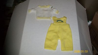 CABBAGE PATCH KIDS  yellow knit outfit