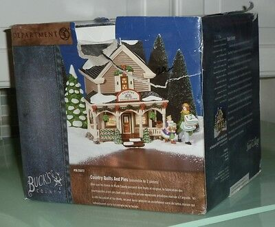 Dpt 56 Buck's County Country Quilts And Pies #56.55072 Snow Village Set Of Two