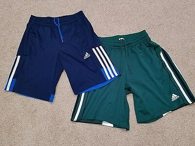 Lot Youth Adidas Athletic Soccer Shorts Black Blue Green Girls Boys Med M