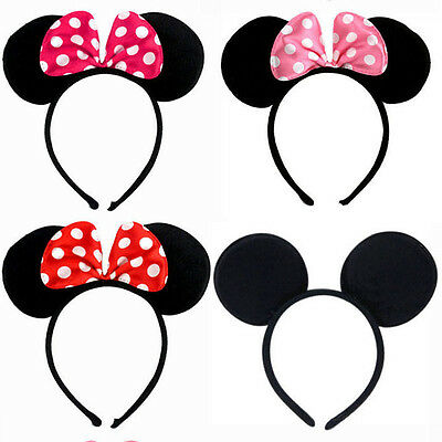 Minnie Mouse Ears Bow Headband Hen Night Womens Girls Mickey Party Fancy Dress &