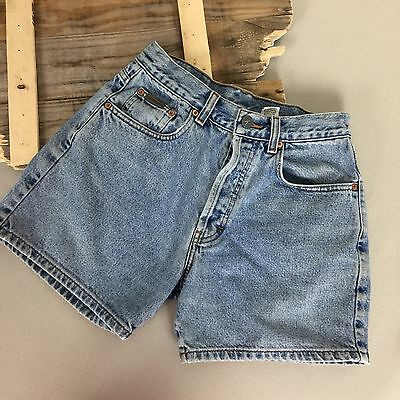 "Vtg 90s High Waisted Calvin Klein Jeans Shorts 5 Button Fly 26"" Waist"
