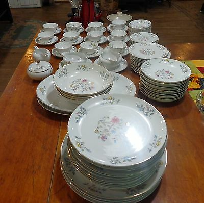 93pcs Vintage Flair Fine China Blossom Time #8145 dishes dish set service  12