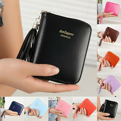Ladies Women Leather Small Mini Wallet Card Holder Zip Coin Purse Clutch Handbag