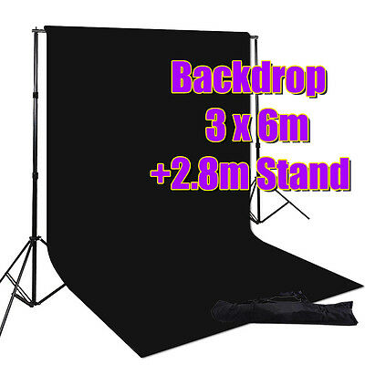 Photography Stuido 2.8x3m Large Stand & 3x6m Muslin Backdrop For Lighting Light