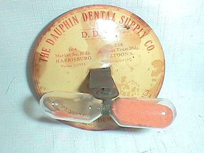 ANTIQUE Dental TIMER Silicate THREE MINUTE Advertising DAUPHIN Supply KOHLHAAS