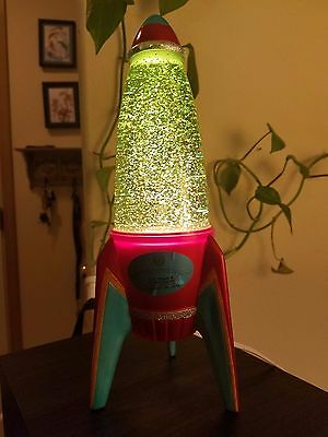 Collectible Rocket Ship Glitter Lamp US Space & Rocket Center - RARE!