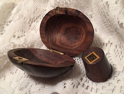 Wood Clamshell Thimble Holder And Thimble India