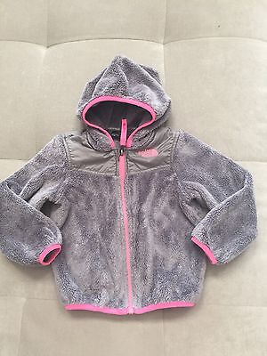 Baby Girl Toddler North Face Size Size 3T Thick Gray Pink Hooded Sherpa Jacket