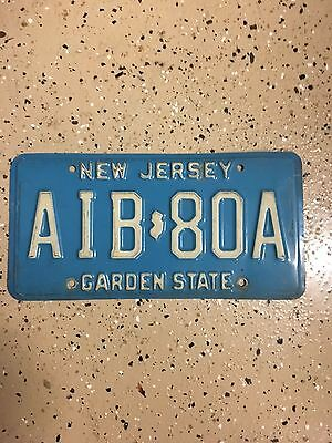 New Jersey License Plate Reg #AIB-80A (Expired)
