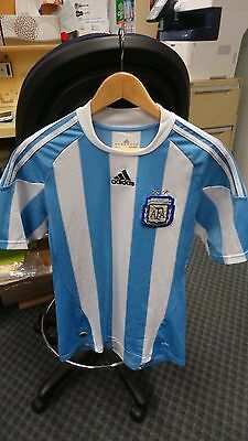 SOCCER JERSEY ARGENTINA  -  BLUE/WHITE  by ADIDAS - SIZE S