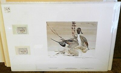 1990 Washington Duck stamps X 2 w/ print  - 1 Artist signed . one unsigned