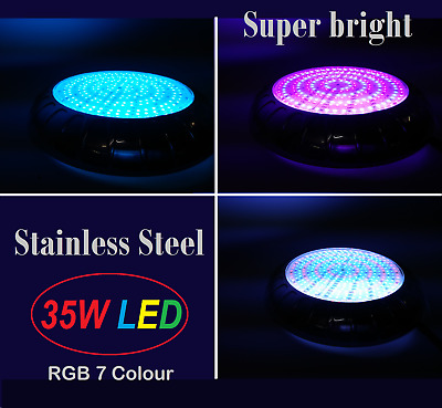 New Long life Epoxy Resin Filled Pool Light 15W Bright LED 7 Colours with Remote