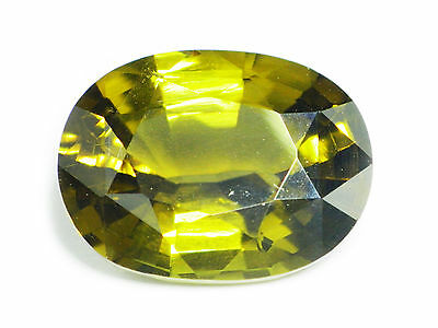 4.77 Ct Certified Loose Natural Oval Cut Yellow Green Kornerupine Ceylon-12750