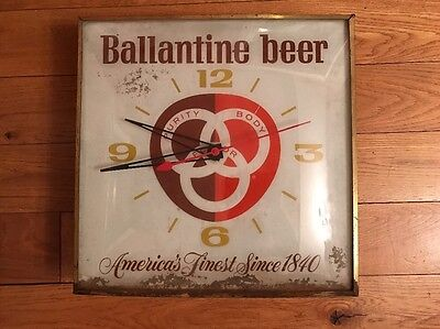 Vintage Ballantine Beer Pam Clock for parts or to restore