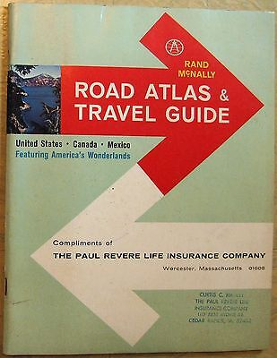 1964 RAND McNALLY ROAD ATLAS & TRAVEL GUIDE United States Canada Mexico, 9¾ x 7⅝