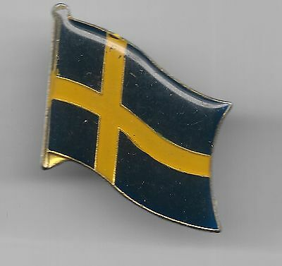 Vintage Flag of Sweden old enamel pin