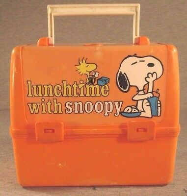 School Days with Snoopy Plastic Lunch Box Vintage Thermos Brand 1965 Peanuts