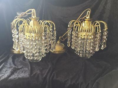 Vintage Chandeliers Waterfall Style X 2 French Paris Apartment Style