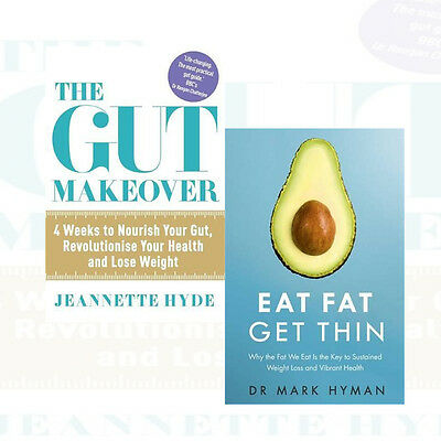 Eat Fat Get Thin And The Gut Makeover 2 Books Collection Set Paperback New Pack
