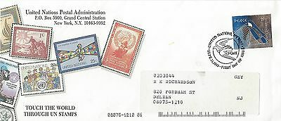 1993 UN Postal Admin - Touch the World Through UN Stamps cover Mail to US