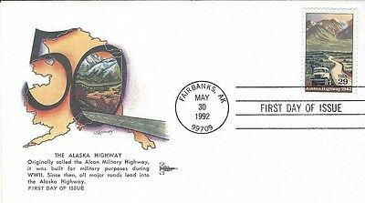 1992 The 50'th Ann. of the Alcan (Alaska) Highway FDC with Gill Craft cachet