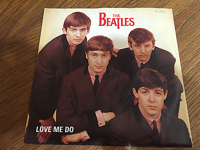 """The Beatles """"Love Me Do - P.S I Love You"""" 7"""" Silver Parlophone Re-Issue R4949"""