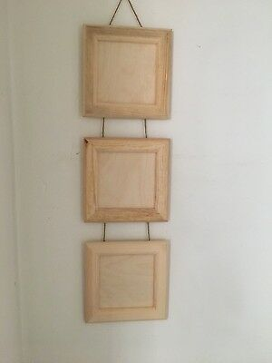 unfinished wooden hanging picture frame for craft decoupage