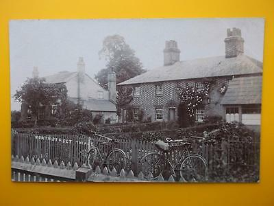 Houses North Street THEALE Nr Reading Berkshire RP c1910 Bicycles Gardens