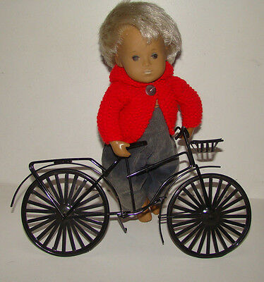 Metal Bike / Bicycle Dolls Posing Prop shown with Sasha Baby for size