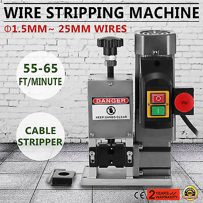 Powered Electric Wire Stripping Machine 1.5-25mm Automatic Copper 16.8-19.8M/Min