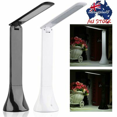 USB Rechargeable Dimmable Touch Sensor LED Reading Desk Table Lamp Light DX