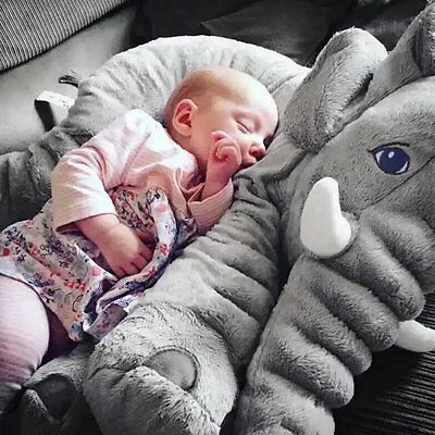 28x33cmStuffed Animal Cushion Kid Baby Sleeping Soft Pillow Toy Cute Elephant DX