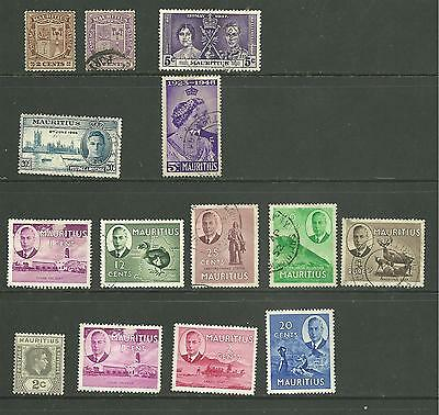 Mauritius: A selection 1921-1950 used + MM