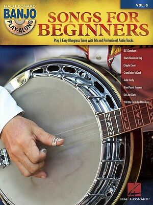 Songs for Beginners - Banjo Play-Along Volume 6 - Banjo Music Book with CD