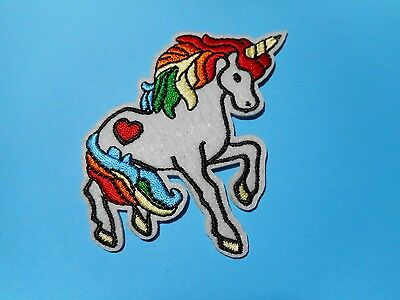 1x Mystical Love Unicorn Patches Embroider Cloth  Applique Badge Iron Sew On