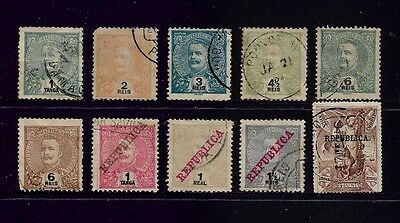 PORTUGUESE INDIA - mixed early collection, 1898-1913, incl Republica opt