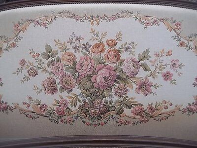 French Vintage Louis Xv Revival Quality Corbelle Double Bedstead/lovely Fabric