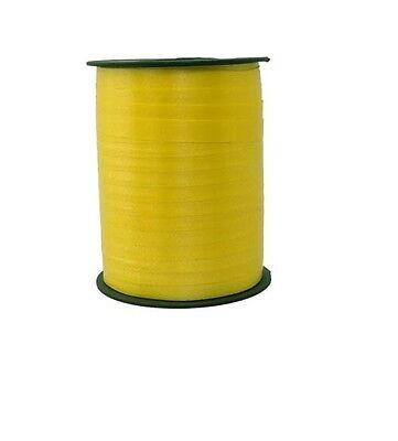Gift Ribbon yellow 10mm x 250m Polyband ribbon Ring tape