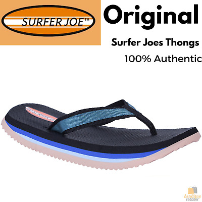 ORIGINAL SURFER JOE Thongs Flip Flops Mens Sandals Shoes Comfortable Slippers
