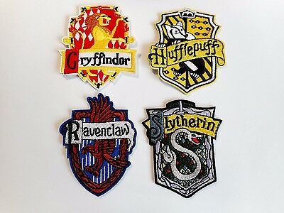 1x Hogwarts School House Patches Embroidered Applique Badge Iron Sew On Wizard